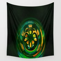 techno Wall Tapestries featuring Techno Ball; Jungle Tech. by Kether Carolus