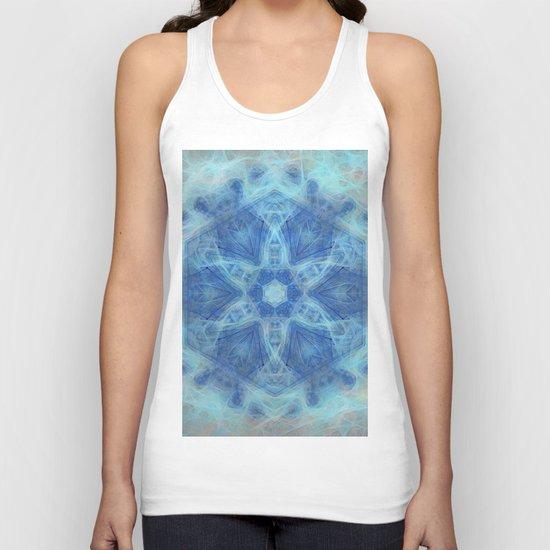 Wispy fairy kaleidoscope in blue Unisex Tank Top