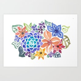 August Bouquet Art Print