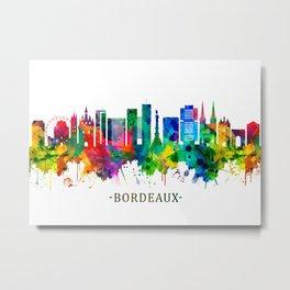 Bordeaux France Skyline Metal Print