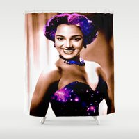 dorothy Shower Curtains featuring Dorothy dandridge by PureVintageLove