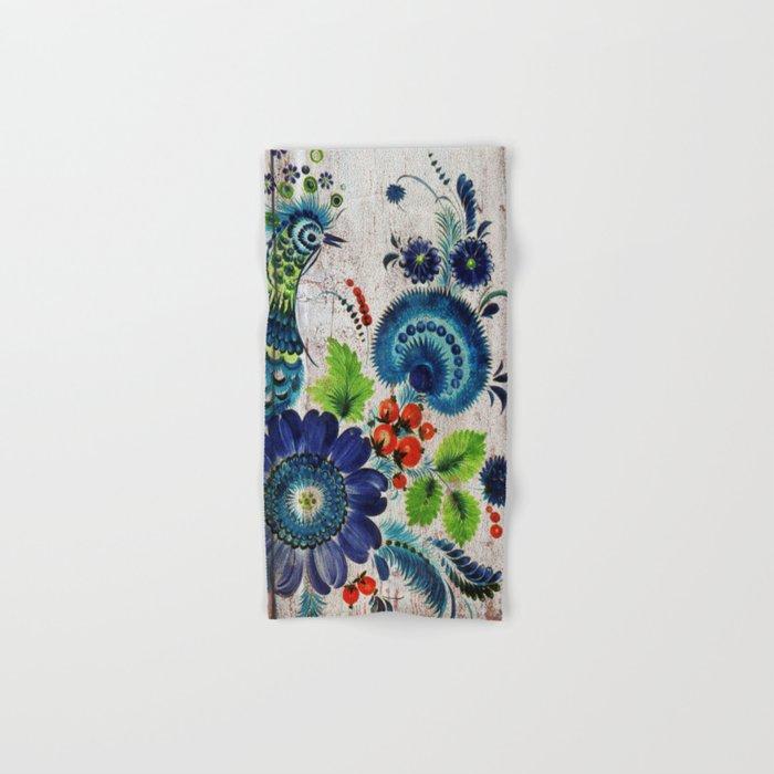 Russian Folk Art on Wood 03 Hand & Bath Towel