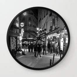 Latin Quarter, Paris Wall Clock