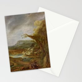 Stolen Art - Landscape with an Obelisk by Govert Flinck Stationery Cards