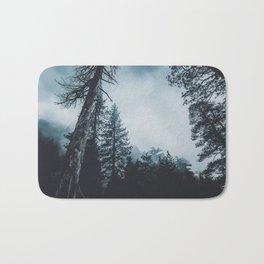 Dark misty forest Bath Mat