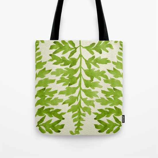 Lime Fern Tote Bag