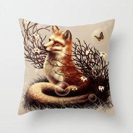 The Fox Tale Throw Pillow