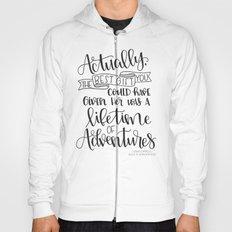 Lifetime of Adventures - Alice in Wonderland Quote Hoody