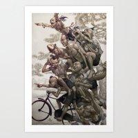 artgerm Art Prints featuring Ten Brothers by Artgerm™