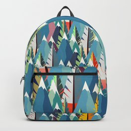 Mountains and Spruces Pattern Backpack