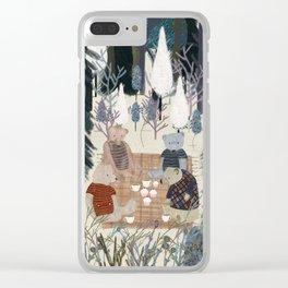 teddy bear picnic Clear iPhone Case