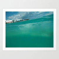 Bermuda Water Art Print