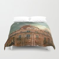 france Duvet Covers featuring Montpellier  - France by Victoria Herrera