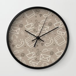 Work Mode (Coffee) Wall Clock