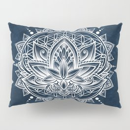 Lotus Mandala (white) Pillow Sham