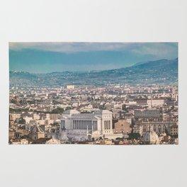 Rome Aerial View at Saint Peter Basilica Viewpoint Rug