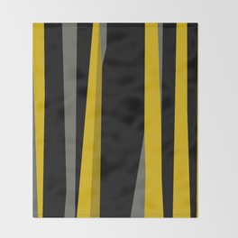 yellow gray and black Throw Blanket