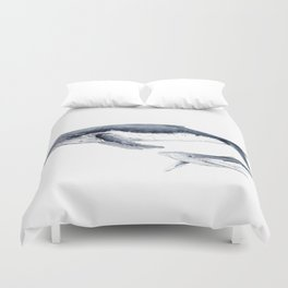 Humpback whale with calf Duvet Cover