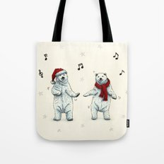 The polar bears wish you a Merry Christmas Tote Bag