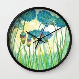 May your cornflowers never fade Wall Clock
