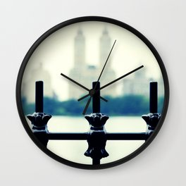 NYC Central Park Two Towers, New York City, Manhattan Wall Clock