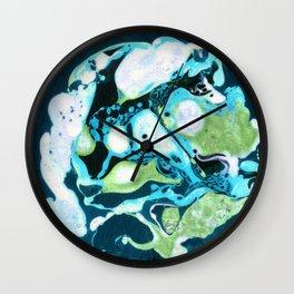 Abstract #3: Blue Marine Dream Wall Clock