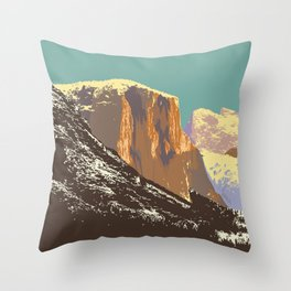 Yosemite's El Capitan Throw Pillow
