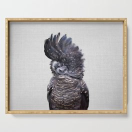 Black Cockatoo - Colorful Serving Tray