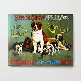 New England Dog Show 1890 Metal Print