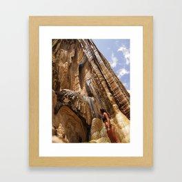 petrified waterfalls Framed Art Print