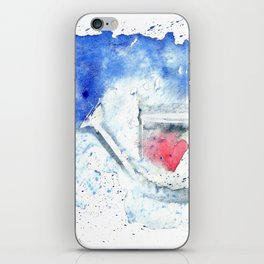 Splash hearted Watering Can - Watercolor painting iPhone Skin