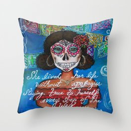Dia De Los Muertos Linda Throw Pillow
