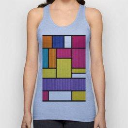 Mondrian Bauhaus Pattern #11 Unisex Tank Top