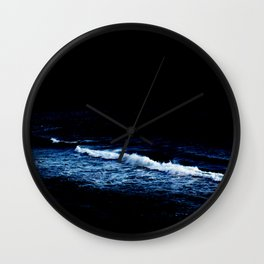 Moonlight over the ocean Wall Clock