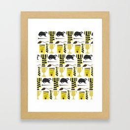 The House of Hufflepuff Pattern Framed Art Print