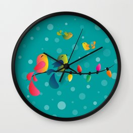 Fly High, My Babies - Merry Christmas Wall Clock