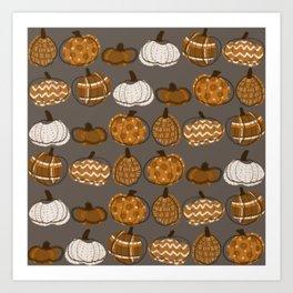 Pumpkin Party in Nougat Art Print