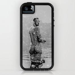 Alpine Snow Lake Nude iPhone Case