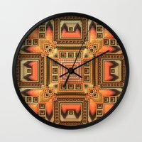 blanket Wall Clocks featuring Cozy Blanket by Lyle Hatch