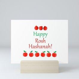 Rosh Hashanah or Jewish Near year greetings with fruit harvests Mini Art Print