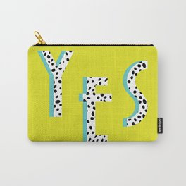 YES Poster | Lime Dalmatian Pattern Carry-All Pouch