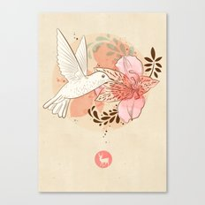 hummingbird & orchid Canvas Print
