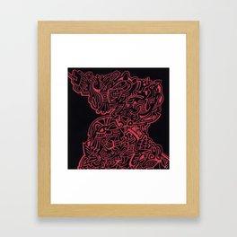 Headbrain Framed Art Print