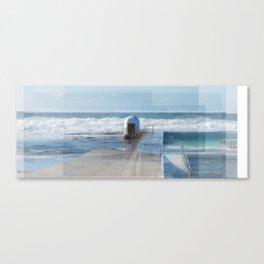 Merewether baths pumphouse Canvas Print
