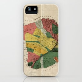 Vintage Map of Maui Hawaii (1885) iPhone Case