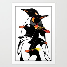 Penguins of Antarctica (vertical) Art Print