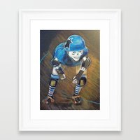 roller derby Framed Art Prints featuring ROLLER DERBY QUEEN by LCG STUDIO / MISTY SPICER