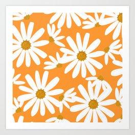 Daisy Pattern Art Print