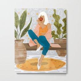 Boss Lady #illustration #painting Metal Print