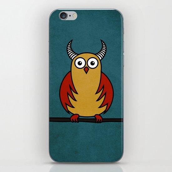 Funny Cartoon Horned Owl iPhone & iPod Skin